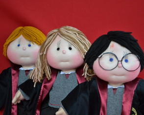 Turma Harry Potter (3 bonecos)