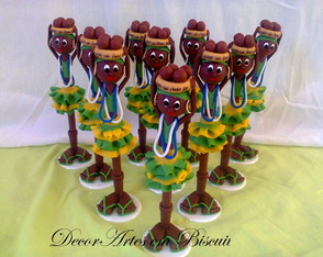 Caneta decorada Baiana Brasil