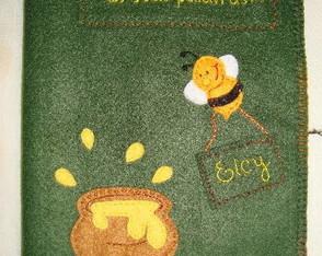 Capa para b�blia - Abelhinha