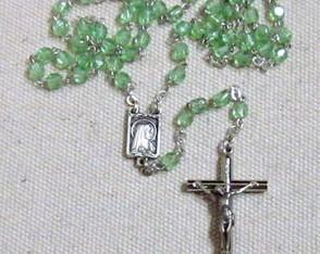 Ter�o Cristal Mini Nossa Senhora Verde