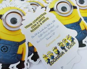 Convites Anivers�rio Infantil Minions