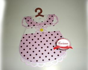 Convite Vestido Ch� de Beb�