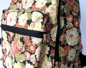 Mochila Light Floral Black