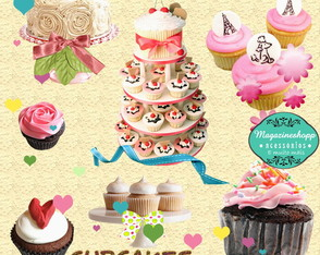 Kit Para Scrapbook Digital Cupcakes