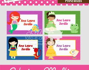 Adesivos multiuso - Princesas
