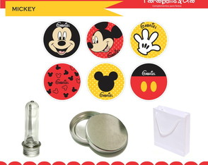 Adesivos 5x5cm Mickey