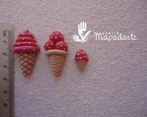 C�d 514 molde de sorvete com 3 p�s