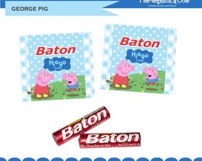 Adesivos Baton George Pig