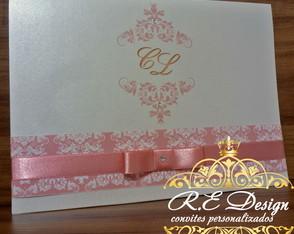 Convite Casamento - Cole��o Royal Clean