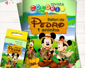 Kit Revista + Giz Mickey Safari