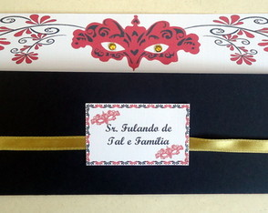 Convite Festa a Fantasia - C�d. 1086