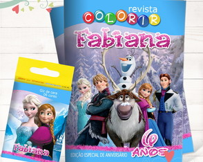 Kit Revista + Giz Frozen