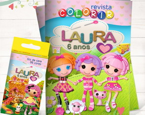 Kit Revista + Giz Lalaloopsy