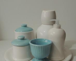 Kit Azul Seco e Branco