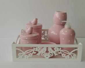 Kit Higiene Rosa Beb� Po�