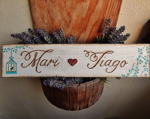 Placa Customiz�vel Para Casamento VIII