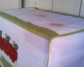Capa para Microondas Ma��s e Flores