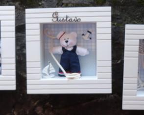 Trio De Quadros Beb� Urso marinheiro
