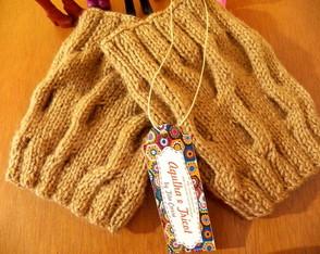 Polaina curta em tricot