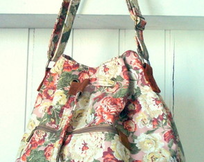 Bolsa Bucket Floral Ros�