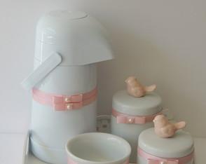 Kit Passarinho Porcelana