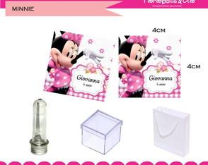 Adesivos 4x4cm Minnie rosa