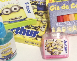 Lembran�as Kit Arte Minions