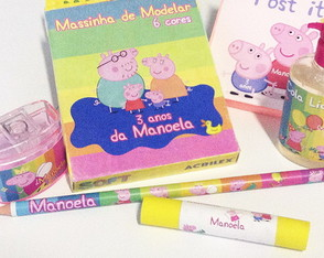 Lembran�as Kit Arte Peppa Pig