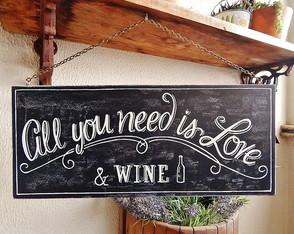 Placa Decorativa Wine