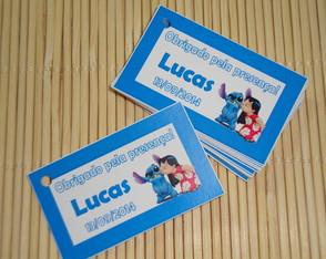 Tags Lembrancinhas Lilo e Stitch
