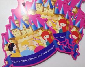 Convite Castelo Princesas