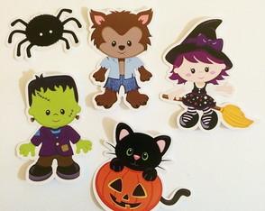 Adesivo ou tag recortada - Halloween