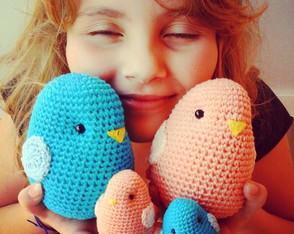 Familia passarinhos de croch�