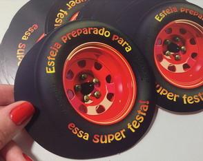 Convite Carros Roda 3D