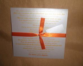 Convite de Casamento Fabiana e Antonio