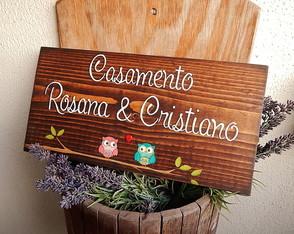 Placa Customiz�vel Rosana