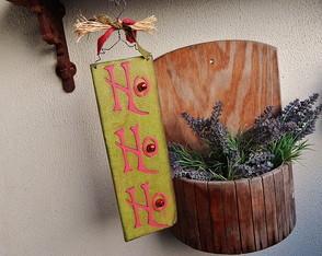 Placa de Natal Ho Ho Ho