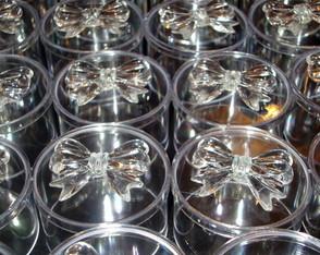 Caixa redonda decorada com la�o
