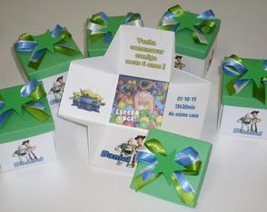 Convite Toy Story Caixinha Surpresa