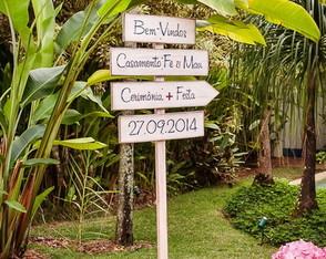 Placa Customizada Para Casamento XVIII