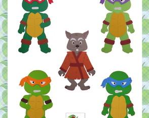 Molde Apliques Tartarugas Ninja