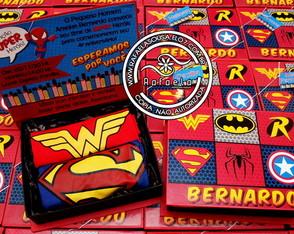Convite Luxo Super Herois
