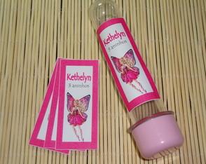 R�tulo Tubete grande Barbie Butterfly