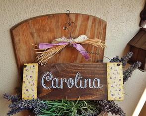 Placa Customiz�vel Carolina
