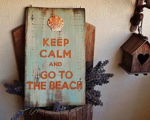 Placa Keep Calm Shell