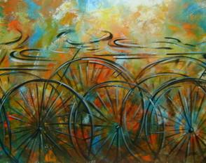 Pintado A M�o Quadro Bike 70x120 Cod 802