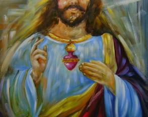 Sagrado cora��o de Jesus 70x90 Cod 809
