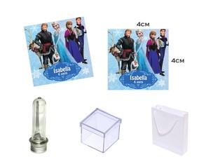 Adesivos 4x4cm Frozen Disney