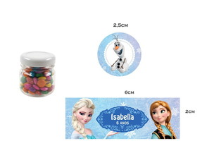Adesivos Potinho Frozen Disney