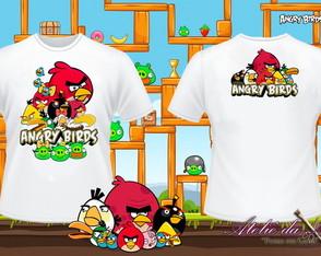 Camisa Personalizada - Angry Birds
